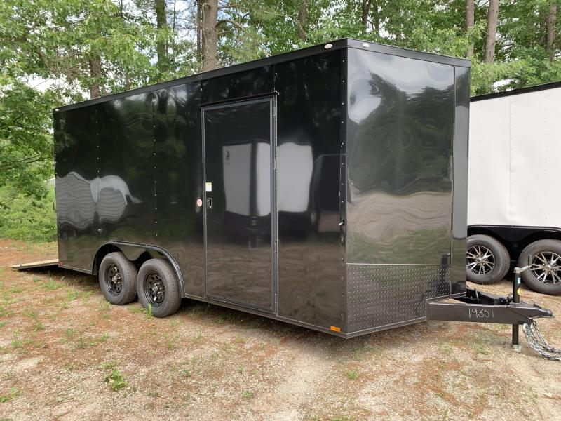 "2021 Spartan 8.5X16 +2ft V trailer/12"" extra height/blackout"
