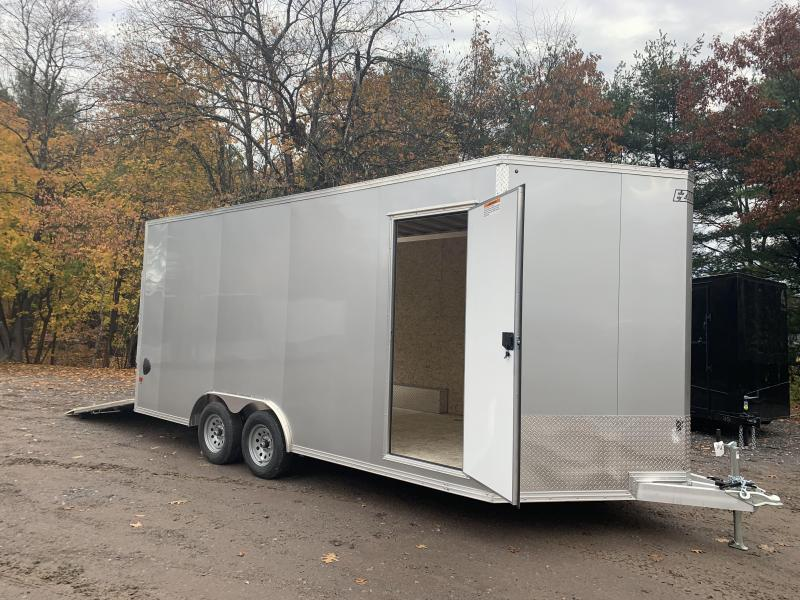 "2021 EZ Hauler 8.5x18 +3 ft V-nose/Aluminum Car Hauler/7000gvwr/18"" extra height"