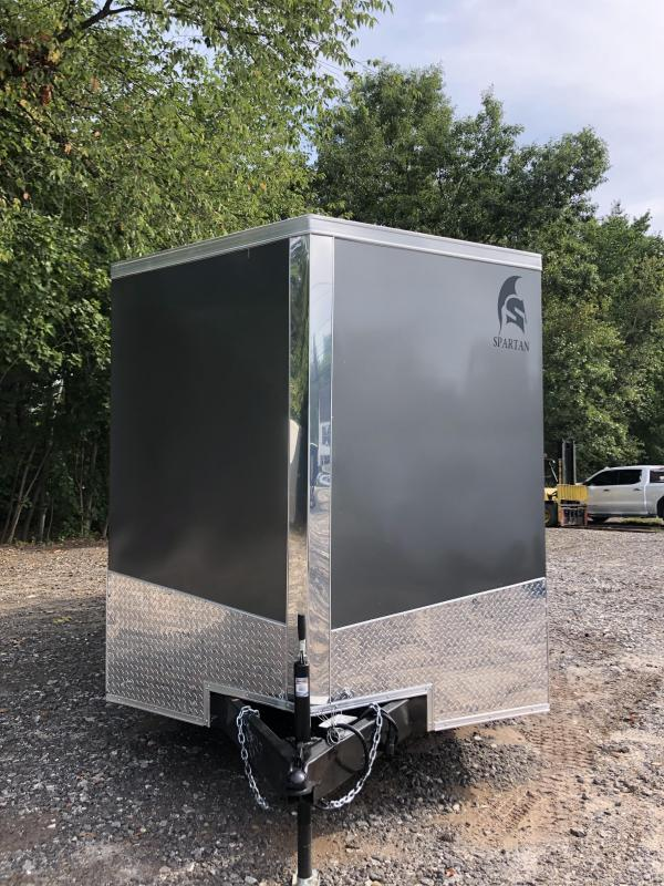 """2021 Spartan 7X16 +2ft V trailer/double doors 6"""" extra height/undercoated"""