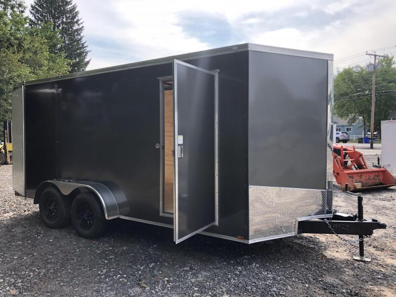 "2021 Spartan 7X16 +2ft V trailer/double doors 6"" extra height/undercoated"