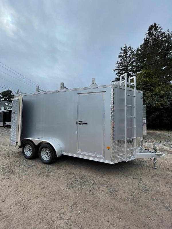 2021 EZ Hauler 7X14 +3 ft V-Nose Aluminum trailer Ultimate contractor/6'6'' inter.
