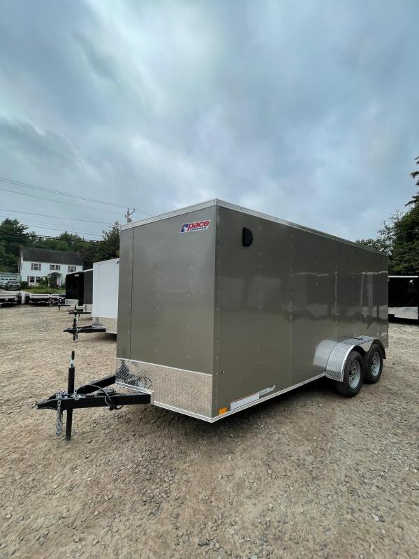 """2022 PACE DLX 7X16 +2ft V-nose 6'6"""" interior height/undercoated"""