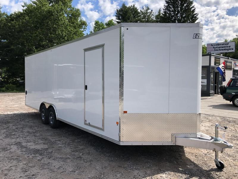 "2020 EZ Hauler 8.5x24 +2 ft V-nose/Aluminum Car Hauler/9990gvwr/12"" extra height"