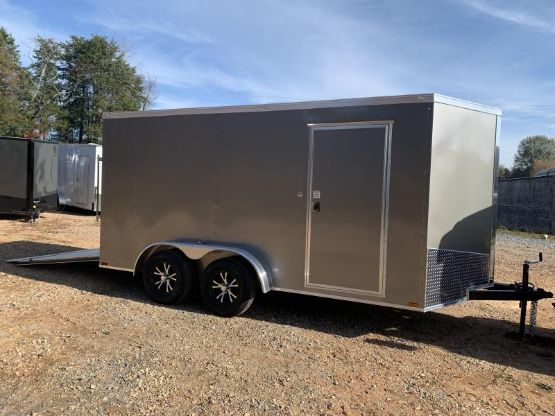 """2021 Spartan 7x14 +2ft V-nose/6"""" extra height Enclosed trailer"""