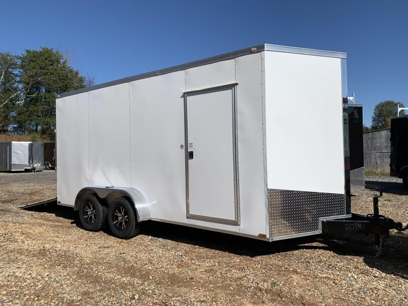 """2021 Spartan 7x16 +2ft V-nose/12"""" extra height Enclosed trailer"""