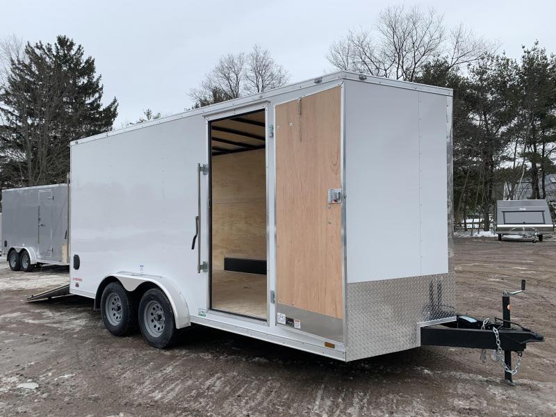 2021 Cargo Mate 7.5X16 +2ft V-nose 7' interior/Utv Package/Stabilizer jacks