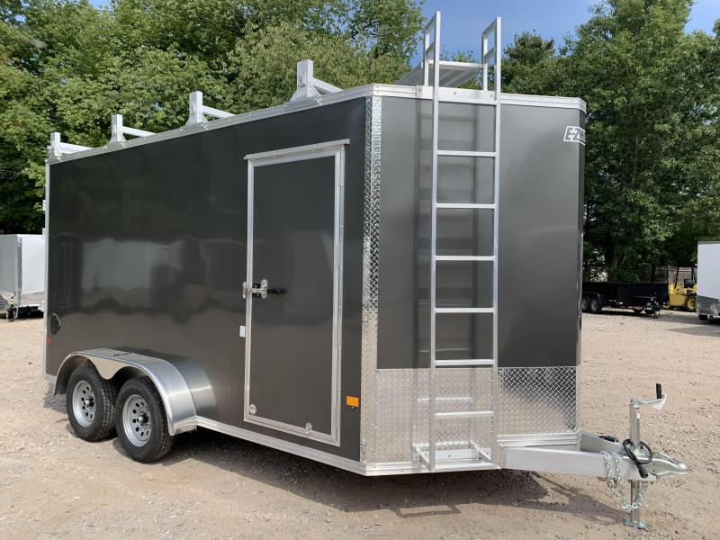 "2021 EZ Hauler 7X14 +3 ft V-Nose Aluminum trailer / 12"" extra height/ Contractor Special"