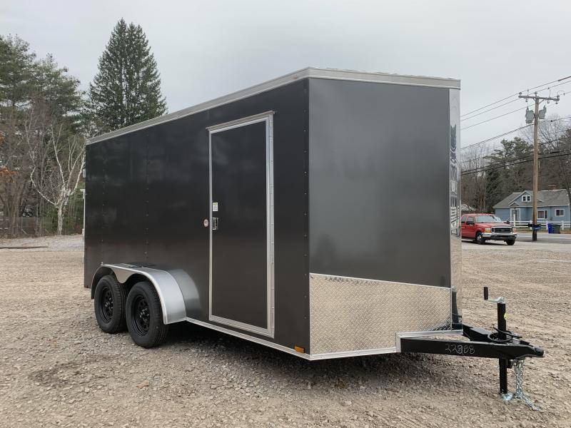 """Dent Sale* 2021 Spartan 7x14 +2ft V-nose trailer/6"""" extra height/undercoated"""