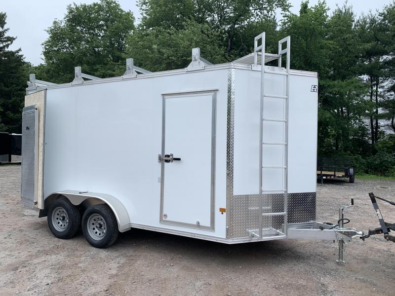 "2020 EZ Hauler 7x14 +36"" v-nose Ultimate Contractor Package/6"" extra height/aluminum"