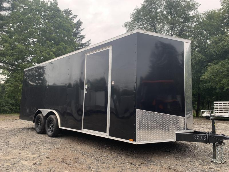 """2021 Spartan 8.5X20+2ft V trailer/6"""" extra height/7000gvwr/undercoated"""