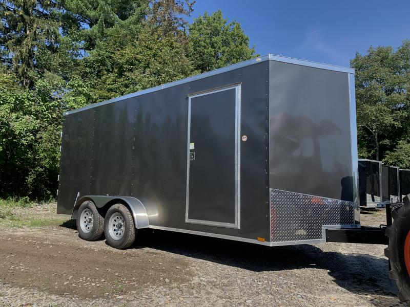 "2022 Spartan 7x16 +2ft V-nose/6"" extra height/ barn doors"