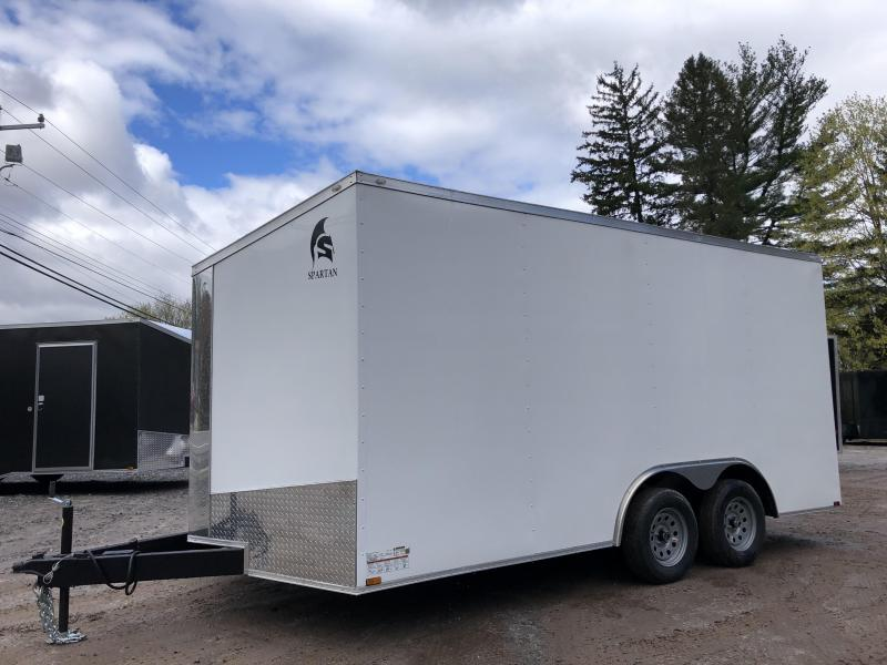 "2021 Spartan 8.5X16 +2ft V trailer/12"" extra height/undercoated"