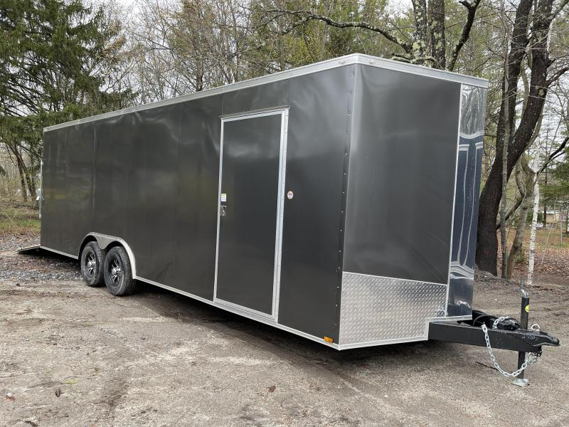 "2021 Spartan 8.5X24+2ft V trailer/30AMP Package/12"" extra height/undercoated/9990gvwr/.030 paneling"