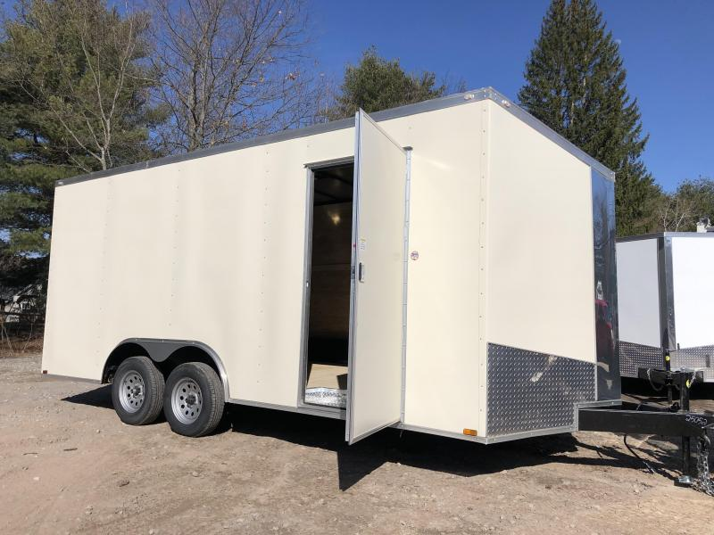 """2021 Spartan 8.5X18 +2ft V trailer/6"""" extra height/undercoated/7000gvwr"""