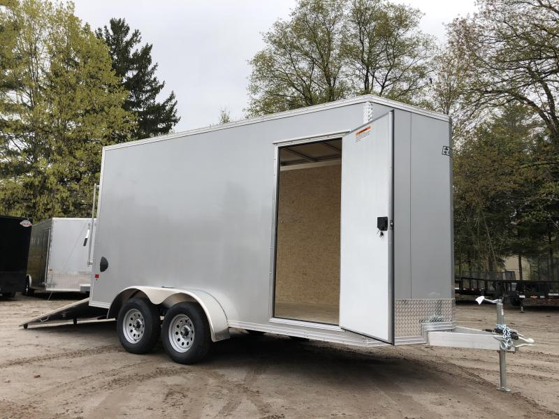 "2021 EZ Hauler 7X14 +2 ft V-Nose DuraLite/fully aluminum trailer/12"" extra height"