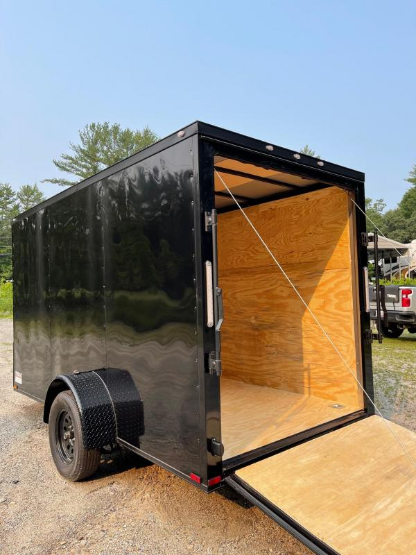 """2021 Spartan 6x12 +2ft V-nose trailer/6"""" extra height-blackout"""
