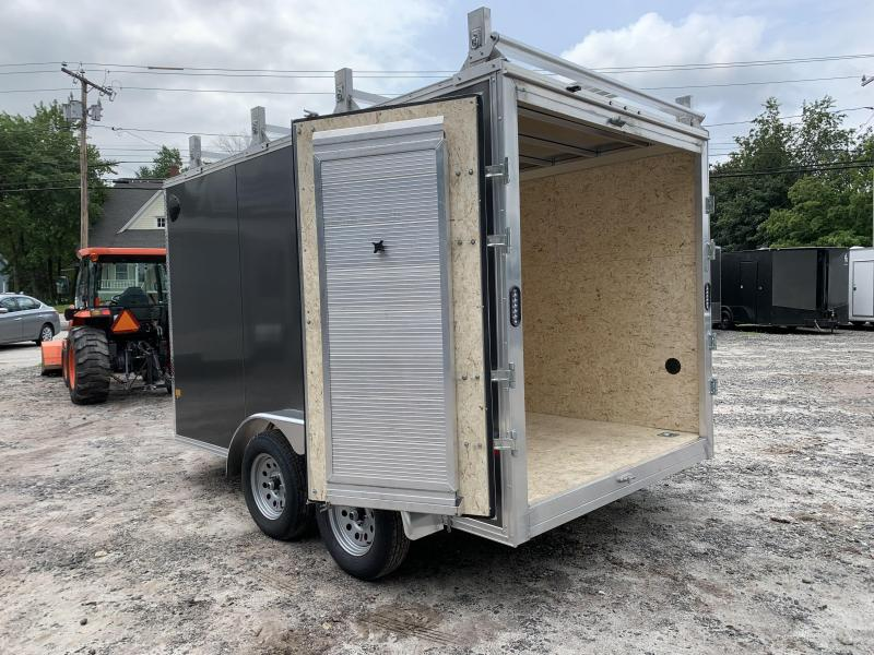 "2021 EZ Hauler 7X12 +3 ft V-Nose Aluminum trailer / 6"" extra height/ Ultimate Contractor"