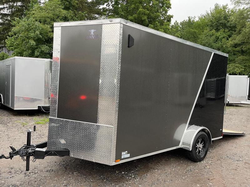 """2021 ANVIL 7X12 +2ft Vnose/12"""" extra height/braked axle"""
