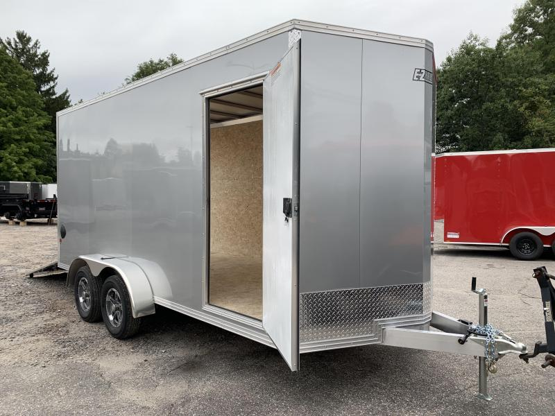 2021 EZ Hauler 7X16 +2ft V-nose/Aluminum V-Nose / Extra height