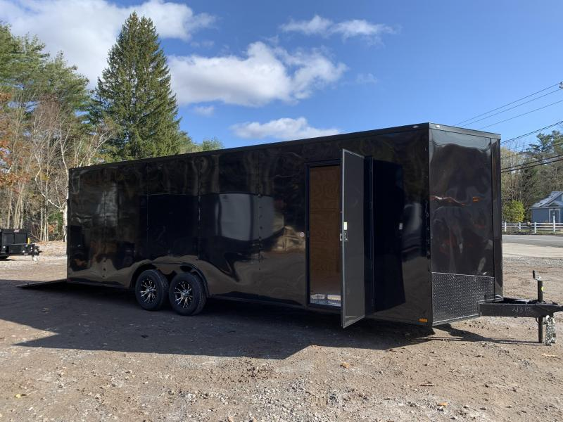 "*DENT SALE* 2021 Spartan 8.5X24+2ft V trailer/12"" extra height/ Blackout"