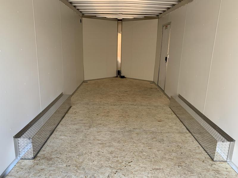 "2021 EZ Hauler 8.5x20 +3 ft V-nose/Aluminum trailer/9990gvwr/12"" extra height SALE"