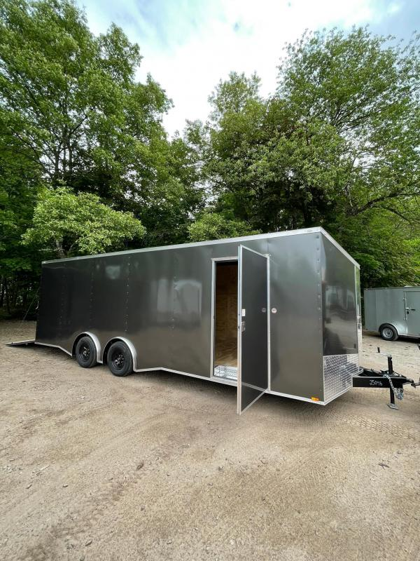 "2021 Spartan 8.5X24+2ft V trailer/12"" extra height/9990gvwr/undercoated/escape door/torsion"