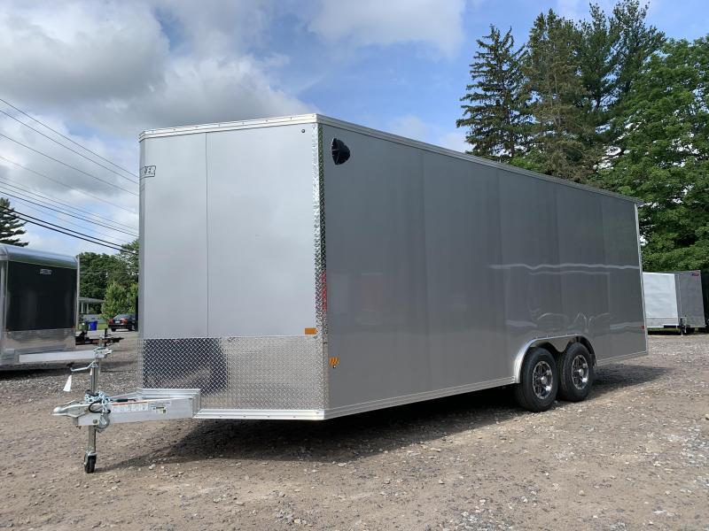 "2021 EZ Hauler 8.5x20 +3 ft V-nose/Aluminum Car Hauler/9990gvwr/12"" extra height"