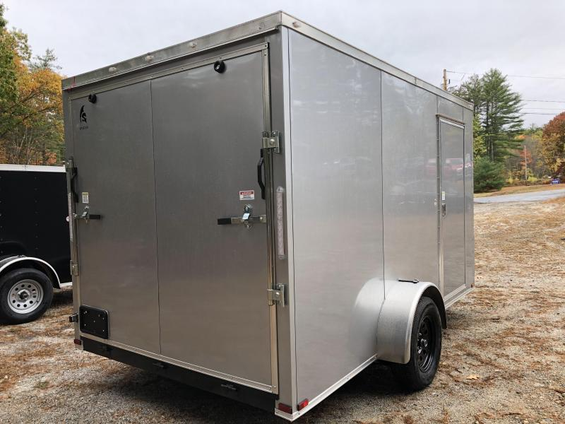 "2021 Spartan 7x12 +2ft V-nose/6"" extra height/ Enclosed trailer"