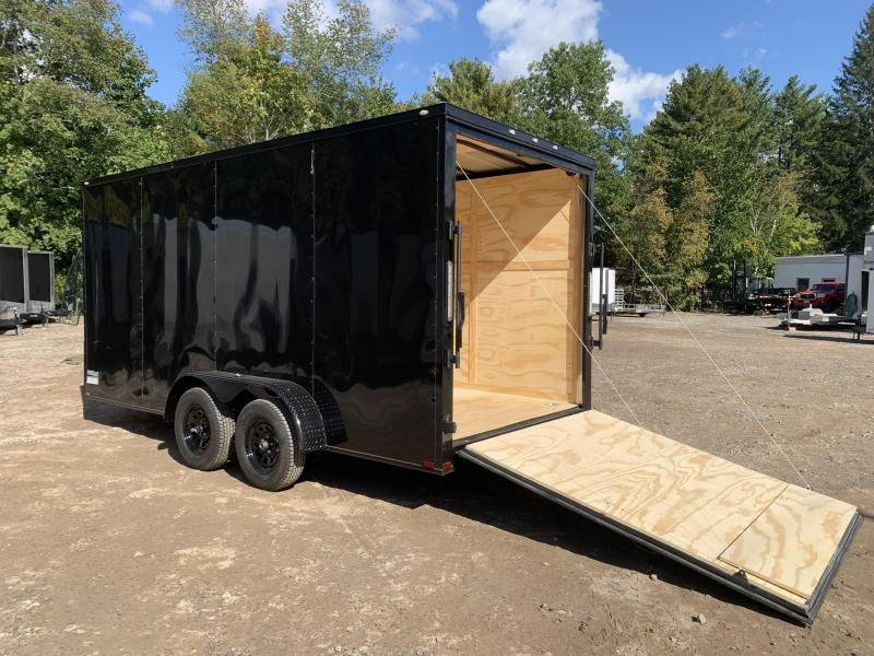 """2022 Spartan 7x16 +2ft V-nose/12"""" extra height/ blackout"""