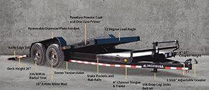 2022 Iron Bull 7x20 Tilt Deck 14k. gvwr- Commercial grade