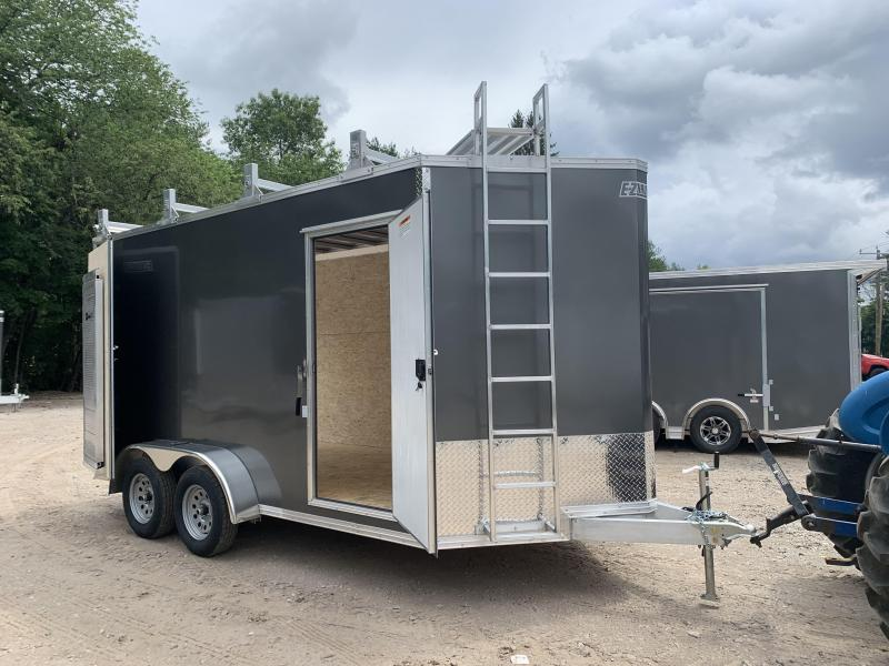 2021 EZ Hauler 7X14 +3 ft V-Nose Aluminum trailer / 7' Ultimate Contractor