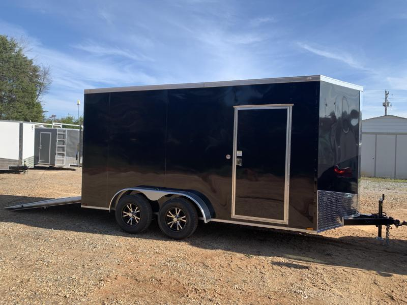 """2021 Spartan 7x14 +2ft V-nose/12"""" extra height Enclosed trailer"""