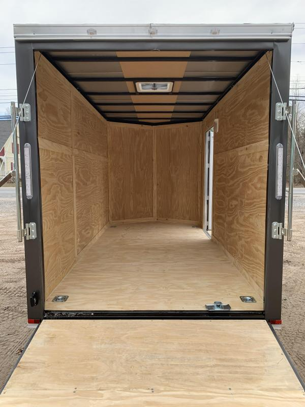 """2021 Spartan 6x12 +2ft V-nose trailer/6"""" extra height/undercoated"""