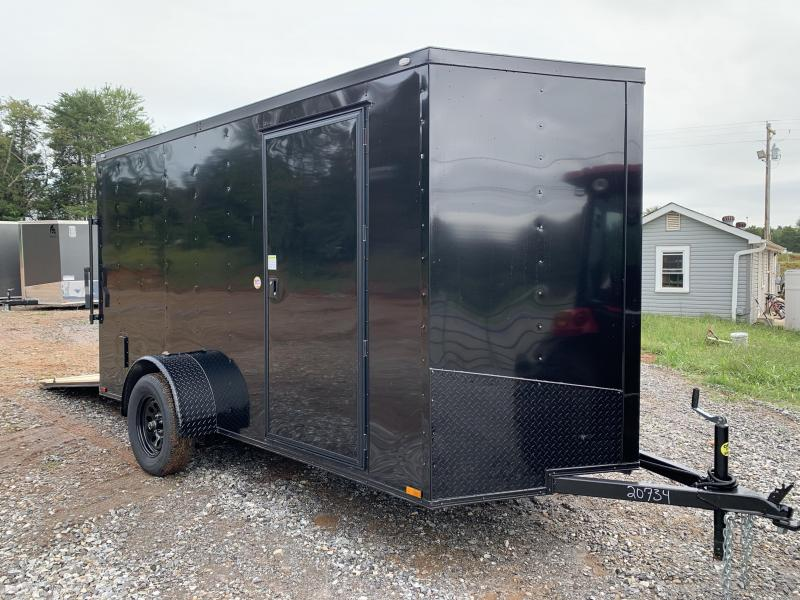 2021 Spartan 6x12 +2ft V-nose trailer/ blackout/ ramp