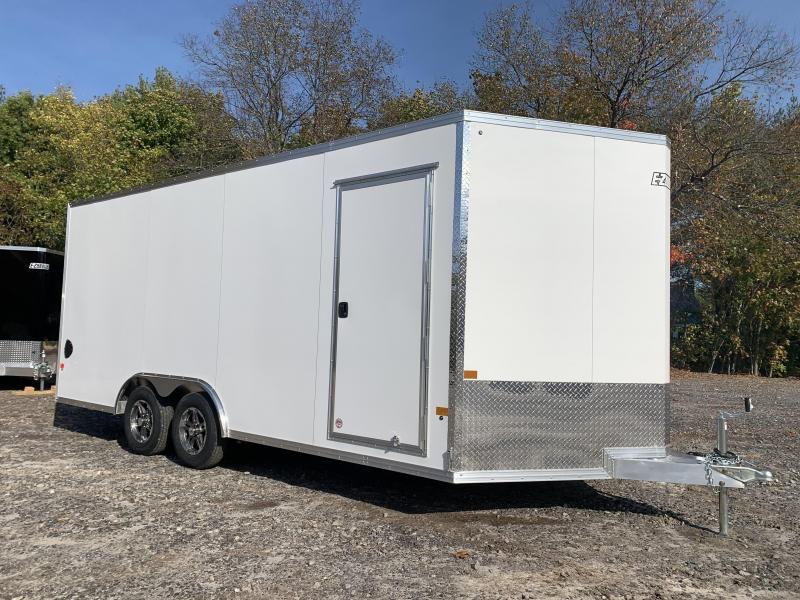"2021 EZ Hauler 8.5x18 +3 ft V-nose/Aluminum Car Hauler/7000gvwr/12"" extra height"