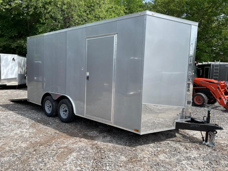 """2021 Spartan 8.5X16 +2ft V trailer/12"""" extra height/undercoated"""
