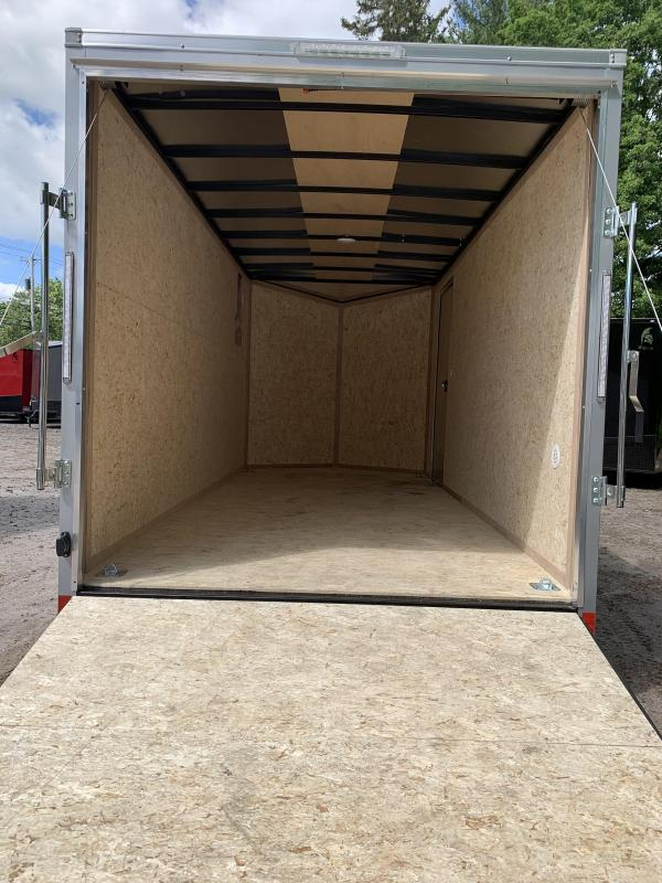 2022 PACE DLX 7X16 +2ft V-nose 7' interior height/undercoated