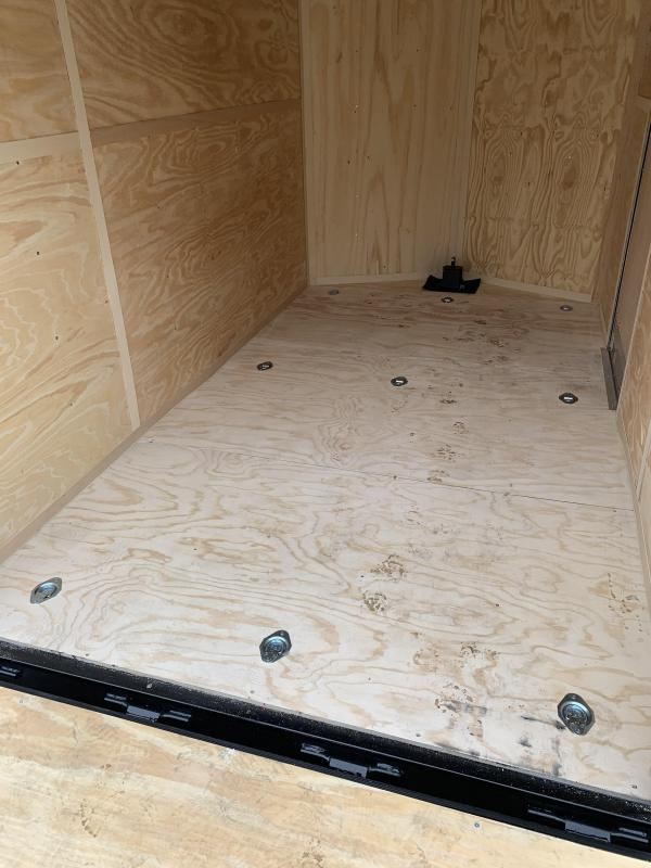 2021 Cargo Mate 7X12 +2ft V-nose 7' interior/Utv Package/Stabilizer jacks