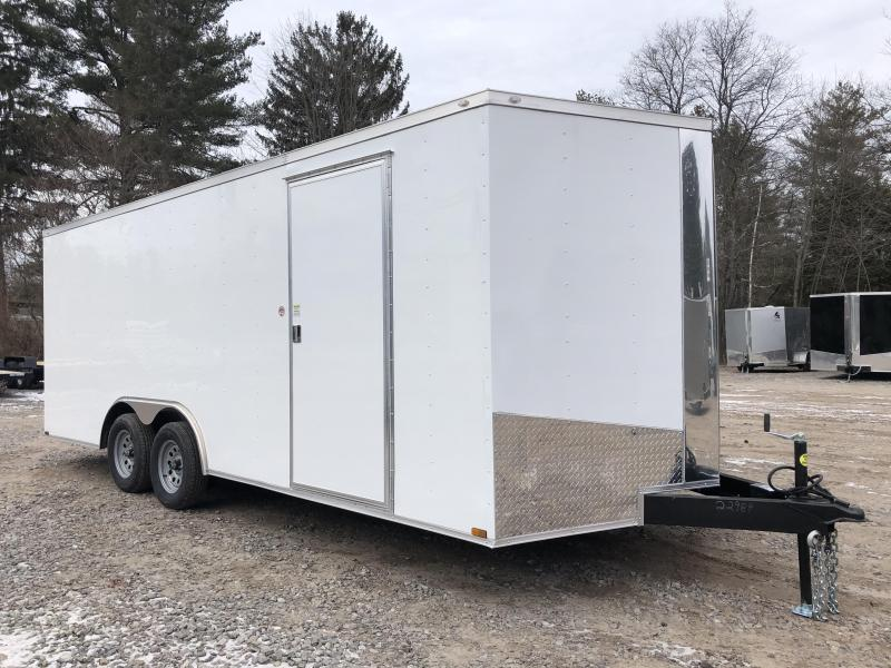 "2021 Spartan 8.5X20+2ft V trailer/6"" extra height/7000gvwr/undercoated gvwr"