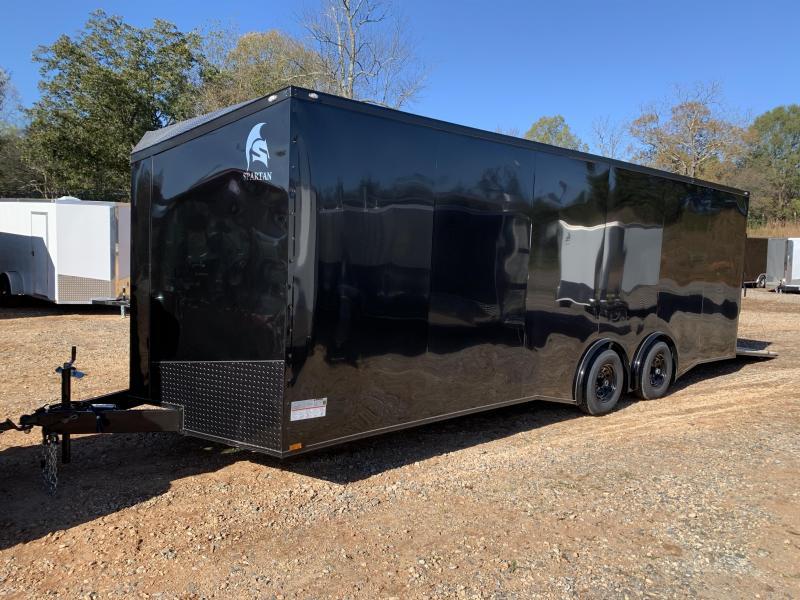 """2021 Spartan 8.5X24+2ft V trailer/12"""" extra height/torsion/blackout *Dent sale"""