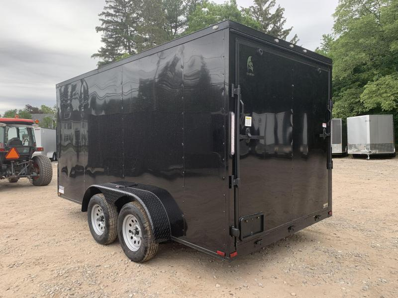 """DING SALE* 2021 Spartan 7x14 +2ft V-nose/6"""" extra height/black trim package/undercoated"""
