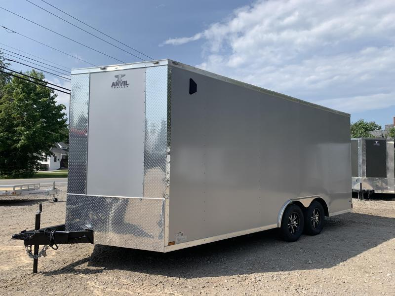 "2021 Anvil 8.5X18 +2ft V trailer/12"" extra height"
