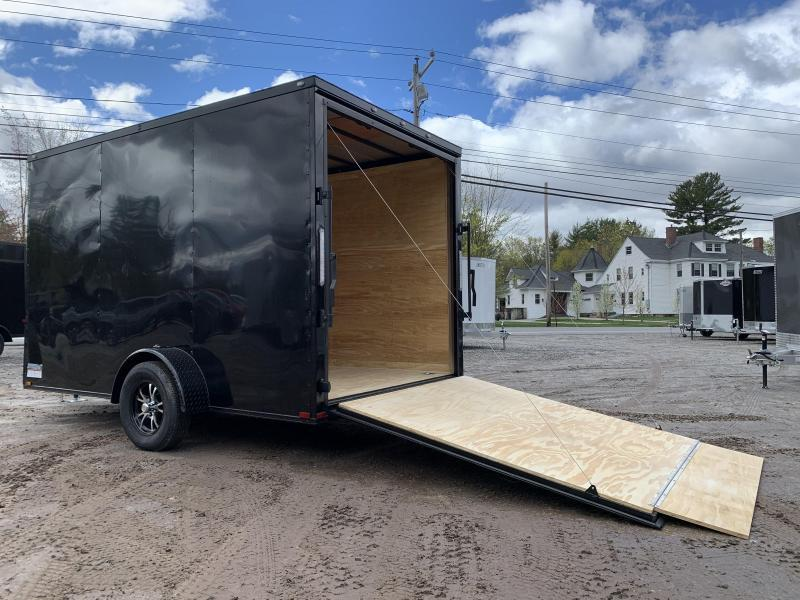 """2021 Spartan 7X12 +2ft Vnose/12"""" extra height/blackout/braked axle/undercoated/ramp"""