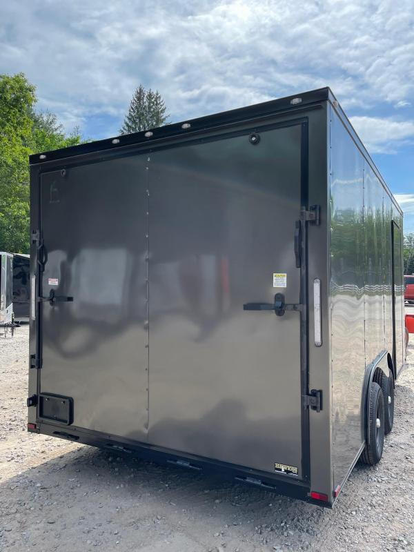 """2021 Spartan 8.5X16 +2ft V trailer/12"""" extra height/undercoated/blackout"""
