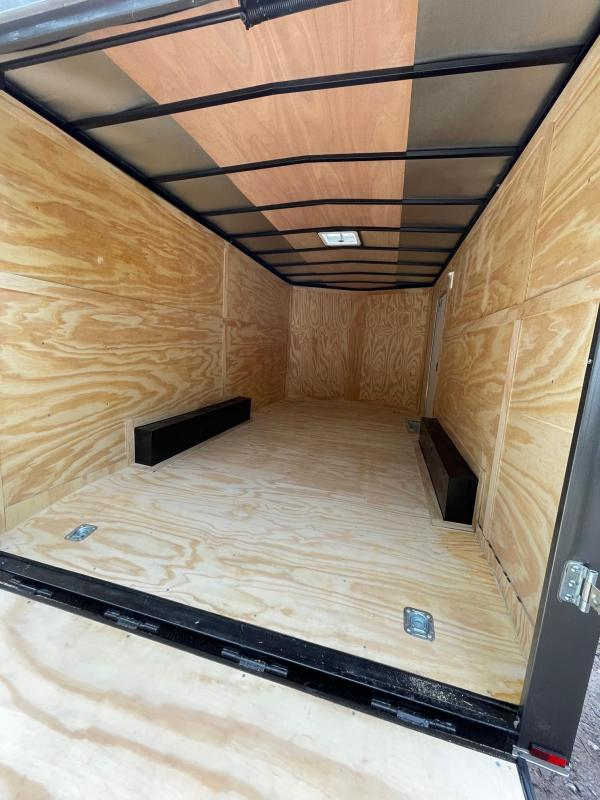 """2022 Spartan 8.5X16 +2ft V trailer/12"""" extra height/undercoated"""