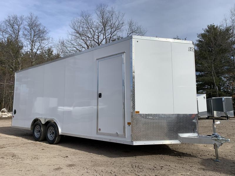 "2021 EZ Hauler 8.5x20 +3 ft V-nose/Aluminum trailer/7000gvwr/12"" extra height"