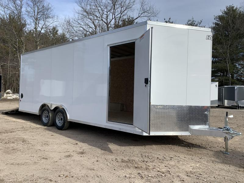 "2021 EZ Hauler 8.5x20 +3 ft V-nose/Aluminum trailer/7000gvwr/12"" extra height"
