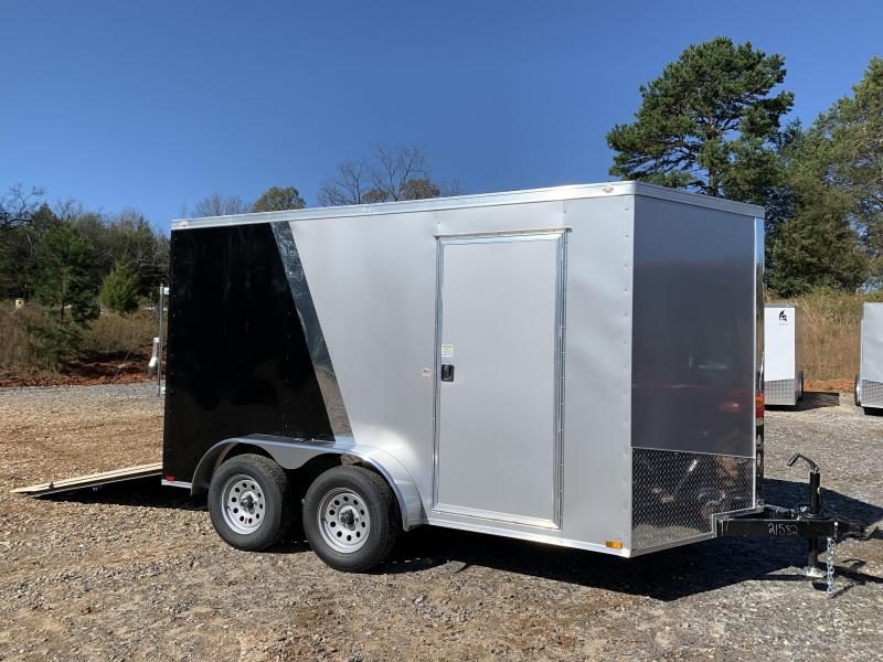 """2021 Spartan 7x12 +2ft V-nose/6"""" extra height Enclosed trailer"""