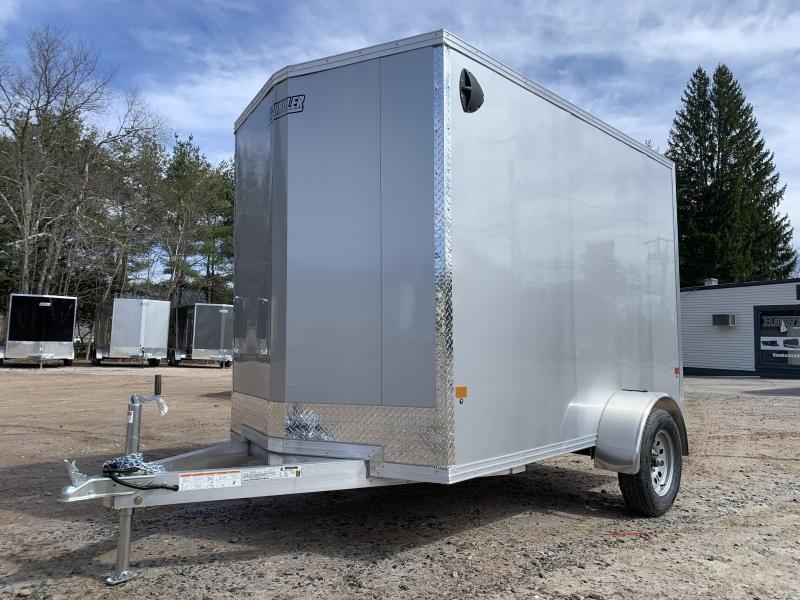 "2021 EZ Hauler 6X10 +12""V-Nose Aluminum trailer / 6"" extra height"