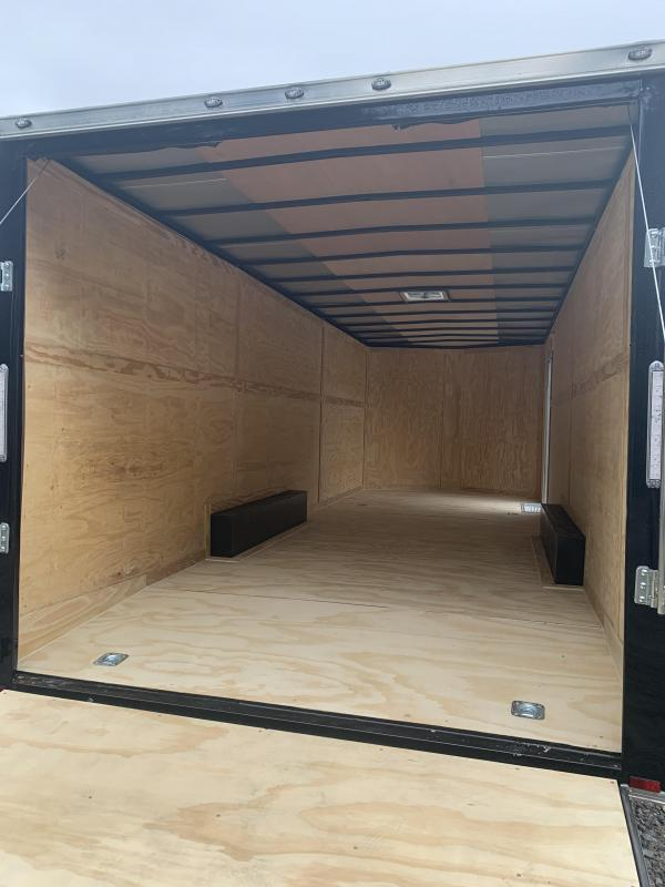 """2021 Damage Sale* Spartan 8.5X24+2ft V trailer/12"""" extra height/undercoated/9990gvwr"""